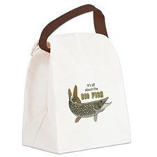 It's All About The Big Fish Canvas Lunch Bag
