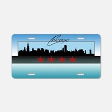 Chicago Skyline Aluminum License Plate