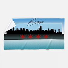 Chicago Skyline Beach Towel