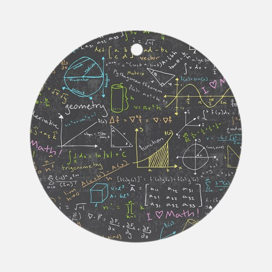 Math Lessons Ornament (Round)