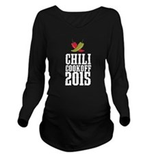 Chili Cookoff 2015 Long Sleeve Maternity T-Shirt
