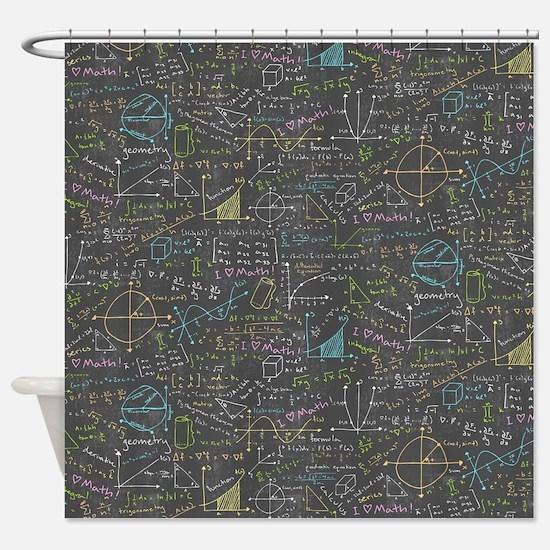 Math Lessons Shower Curtain
