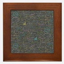 Math Lessons Framed Tile