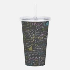 Math Lessons Acrylic Double-wall Tumbler