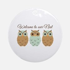 Welcome Nest Ornament (Round)