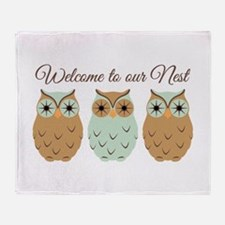 Welcome Nest Throw Blanket