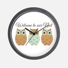 Welcome Nest Wall Clock