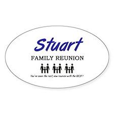 Stuart Family Reunion Oval Decal