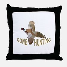 Gone Hunting Throw Pillow