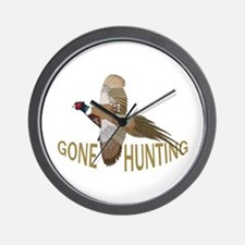 Gone Hunting Wall Clock
