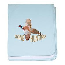 Gone Hunting baby blanket