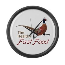 The Healthy Fast Food Large Wall Clock
