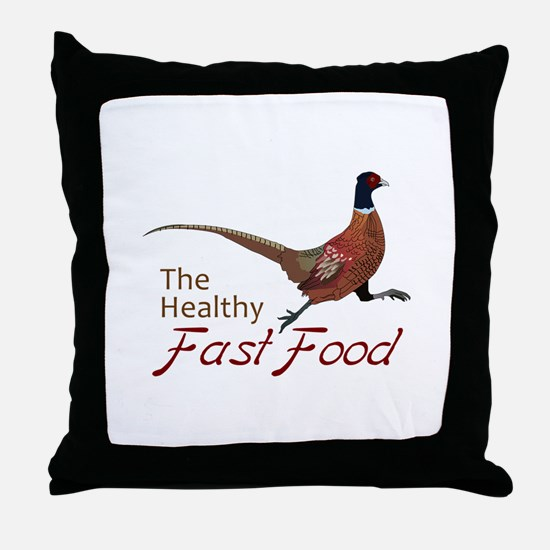 The Healthy Fast Food Throw Pillow