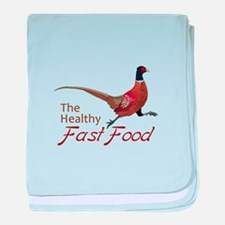 The Healthy Fast Food baby blanket