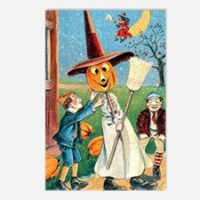 Jack-O-Lantern Witch Postcards (Package of 8)