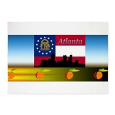 Atlanta Skyline 5'x7'Area Rug