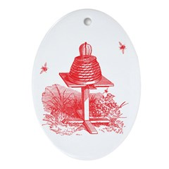 The Hive In Red Oval Ornament