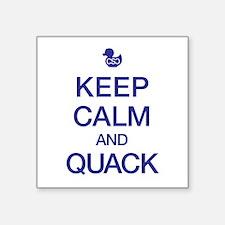 Quack Calmly Sticker