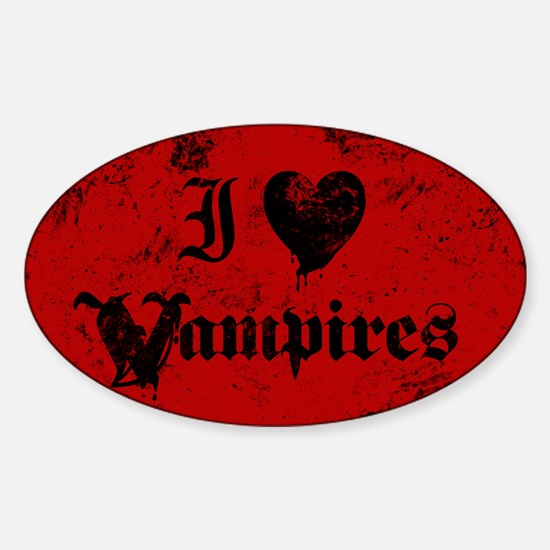 I Love Vampires Decal