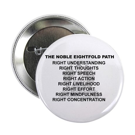 "Noble Eightfold Path 2.25"" Button"
