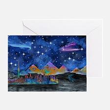 Starry Night in Dubai Greeting Card