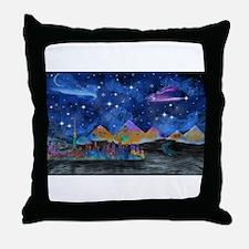 Starry Night in Dubai Throw Pillow