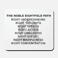 Noble Eightfold Path Mousepad