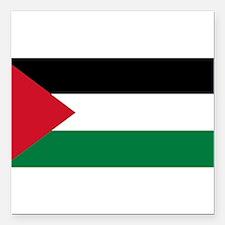 "Palestinian flag Square Car Magnet 3"" x 3"""