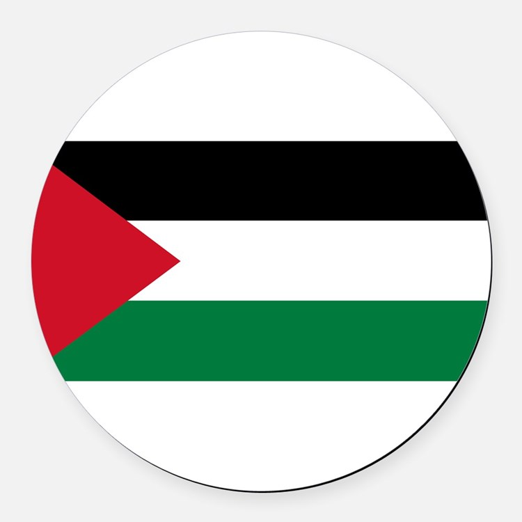 Palestinian flag Round Car Magnet