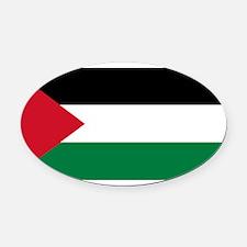 Palestinian flag Oval Car Magnet