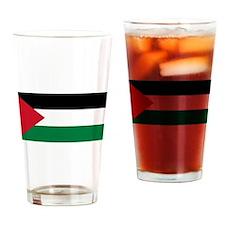 Palestinian flag Drinking Glass