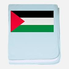 Palestinian flag baby blanket