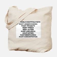 Noble Eightfold Path Tote Bag