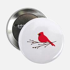"""Cardinal Bird Branch 2.25"""" Button (10 pack)"""
