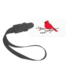 Cardinal Bird Branch Luggage Tag