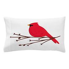 Cardinal Bird Branch Pillow Case