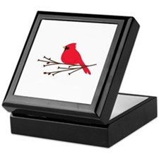 Cardinal Bird Branch Keepsake Box