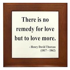 Henry David Thoreau 13 Framed Tile