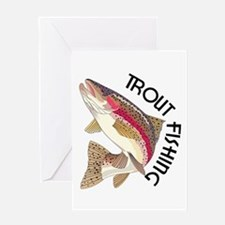 Trout Fishing Greeting Cards