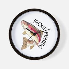 Trout Fishing Wall Clock