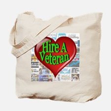 Trending Now Hire A Veteran Heart Tote Bag