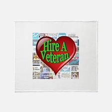 Trending Now Hire A Veteran Heart Throw Blanket