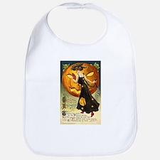Witch & Jack-O-Lantern Bib
