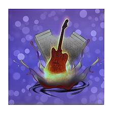 Guitar Splash Tile Coaster
