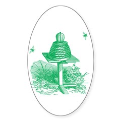 The Hive in Green Oval Decal