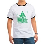 The Hive in Green Ringer T