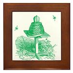 The Hive in Green Framed Tile