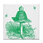 The Hive in Green Tile Coaster