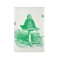 The Hive in Green Rectangle Magnet (100 pack)