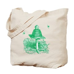 The Hive in Green Tote Bag